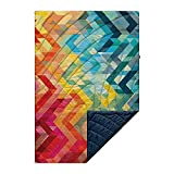 Rumpl The Original Puffy | Printed Outdoor Camping Blanket for Traveling, Picnics, Beach Trips, Concerts | Geo, 1-Person