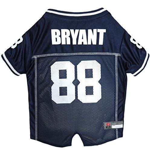 NFLPA Dog Jersey - DEZ Bryant #88 Pet Jersey - NFL Dallas Cowboys Mesh Jersey, Large