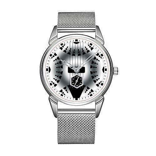Fashion herenhorloge zilver roestvrij staal waterdicht horloge mannen top merk herenhorloge staal gitaar polshorloges