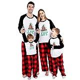 Matching Christmas Pajamas Set for Family Women Men Kids,Let's Get Lit Printed Pjs for Boys Girls (Women/Small) White