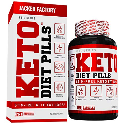 Keto Diet Pills - Weight Loss Supplement for The Ketogenic Diet - Fat Burner, Appetite Suppressant, Electrolytes - Premium Fat Burning L-Carnitine, Chromax, Ashwagandha, EGCG, More - 120 Veggie Pills