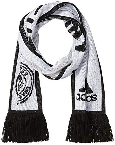 adidas Germany - Bufanda (talla única), color blanco y negro