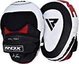RDX Cowhide Leather Boxing Hook & Jab Pads MMA Strike Shield Thai Kick Focus Punching Mitts Target...