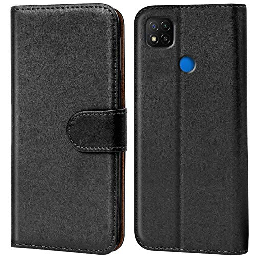Verco Funda para Xiaomi Redmi 9C, Telefono Movil Case Compatible con Redmi 9C Libro Protectora Carcasa, Negro
