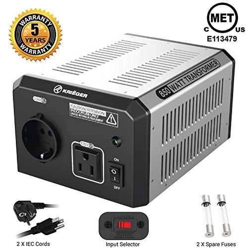 KRIËGER 850 Watt Spannungswandler 110/120V - 220/230V mit CE/UL/CSA Zulassung