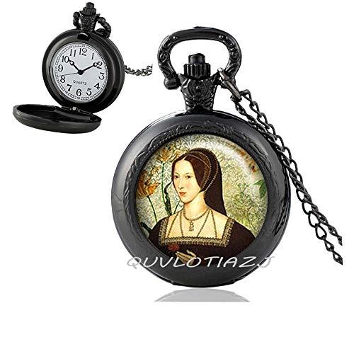 QUVLOTIAZJ Tudor Rose Necklace Tudor Pocket Watch Necklace Tudor Jewelry Tudor Necklace Queen of England,Best Friend Pocket Watch Necklace,Simple,Gorgeous Pocket Watch Necklace,ot77