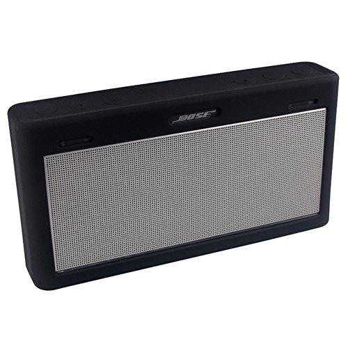 para Bose Mini 3 Funda, Viajes de silicona suave cubierta protectora Llevar case caso de la piel para el altavoz inalámbrico Bluetooth Bose SoundLink Mini III (negro)