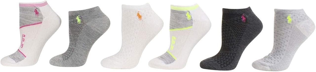 LAUREN Ralph Lauren 6-Pack Random Feed Mesh Low Cut Socks