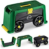 Miracle-Gro 4-in-1 Roll N Kneel Gardening Accessory, Blue/Green/Yellow