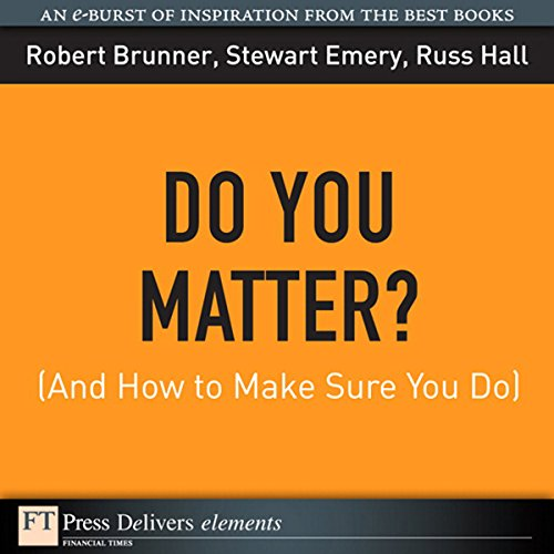 Do You Matter? (And How to Make Sure You Do) audiobook cover art