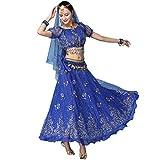 Magogo Erwachsene Mädchen Bollywood Indian Dress 3-teiliges Set Lady Arabian Princess Bauchtanz...