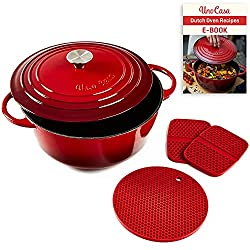 Image of Uno Casa Enameled Cast Iron...: Bestviewsreviews