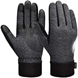 VBIGER Thickened Winter Gloves Warm Touch Screen Gloves Anti-Slip Cycling Gloves (Gris Oscuro, M)