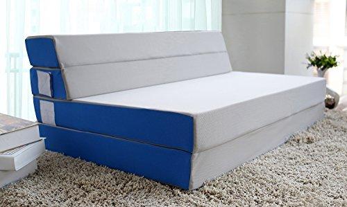 merax folding beds Merax 4 Inch Folding Mattress and Sofa Adjustable Floor Mat (Queen)