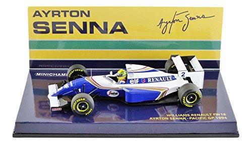 Minichamps 547940202 '1:43 1994 Williams Renault FW16 - Ayrton Senna Pacific GP Model Car