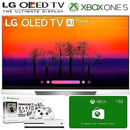 $2849 Get LG OLED65E8 Class E8 OLED 4K HDR AI Smart TV 2018 Model, Xbox One S NBA 2K19 Bundle, 50 Xbox Gift Card. LG Authorized Dealer! (65-inch)