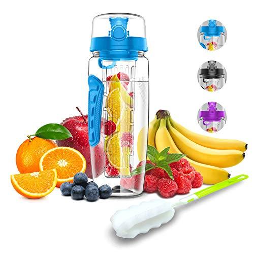 Babacom Botella Agua con Filtro infusor para Fruta 1Litro100