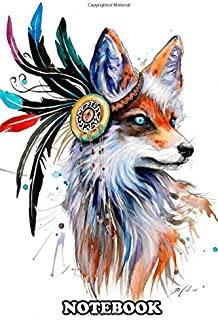 Notebook: Inspired Fox Spirit By The Mother Of Nature , Journal for Writing, College Ruled Size 6