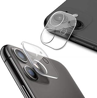 【2021改良モデル】YOFITAR iPhone 11/iPhone 12 Mini 用 カメラフィルム レンズ保護フィルム 反射防止 遮光リング付き 全体保護 耐衝撃 強化ガラス 硬度9Hキズ防止 防塵 高透過率 粘着性強い 2枚 (iPh...