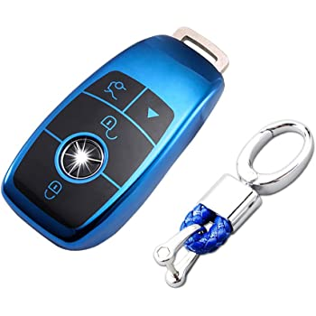 2018 up S Class 2017 2018 W213 3//4-Buttons Red TurningMax Keyless Entry Remote Cases Smart Key Fob Cover with Keychain Full Protection Soft TPU Holder Shell for Mercedes Benz E Class