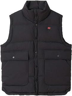 タンクトップ ベストベスト冬の厚い男性のカップルジャケットベストショートコットンベストのジャケット高い襟のコットンベストノースリーブベストスリムライトコート (Color : Black, Size : L)