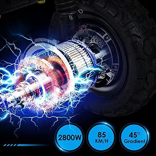 GUNAI Scooter électrique 5600W Double Moteur 80-85 km/h Double Suspension Pneu 11 Pouces Scooter de Transport Portable Pliable avec siège 60V 33Ah Batterie Convient pour Les Amateurs de Tout-Terrain