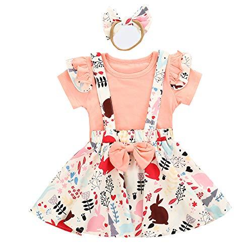 MRULIC Baby Mädchen Outfits Kleidung Bowknot Weste Tops + Plaid Shorts Hosen Sets Anzug 1-6 Jahre(X3-Rosa,110)
