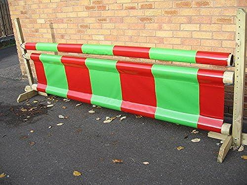 Equestrian Jump Filler & Pole Sleeve, Vert et rouge