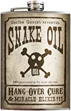 Snake Oil Skull & Cross Bones Flask - 8oz Stainless Steel Flask - come in a GIFT BOX - by Trixie & Milo