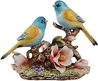 置物の彫刻の彫像ノベルティ中国風の創造的な花と鳥の彫刻の動物結婚式のための置物の陶器tCrafArHome寝室の装飾リビングルームのクリスマスギフト感謝祭