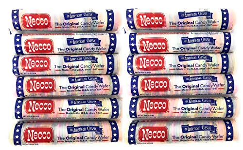 Necco Wafers Original Assorted Candy Rolls - Set of 12 Rolls