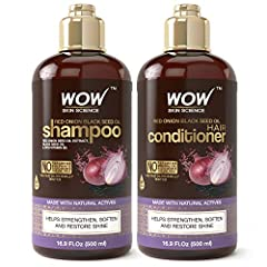BEAUTIFUL, STRONG HAIR: WOW Red Onion Black Seed Oil Shampoo & Conditioner is able to balance the pH level that closely resembles human hair to help obtain the silkiest, softest, glossiest hair. Use twice a week to be less prone to breakage, split en...