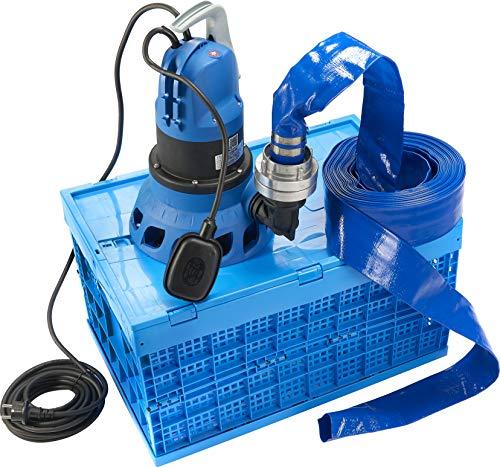 Tallas Hochwasserschutzbox D-Flooding Kit inkl. Pumpe und 15 m Schlauch