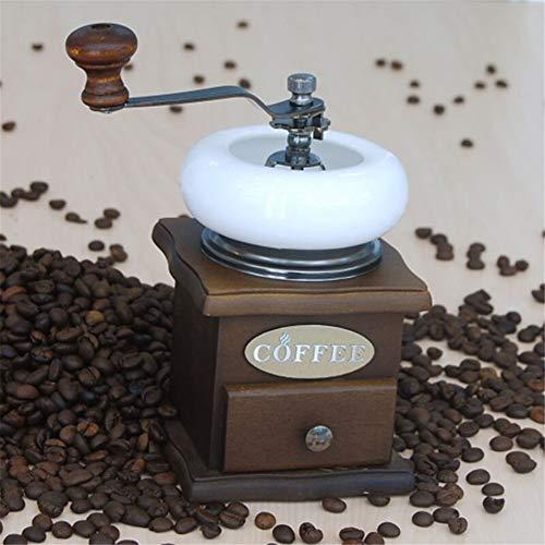 Office Handmatige Koffie Grinders Retro Hout Handmatige Koffie Grinder Barista Gereedschap Draagbare Café Bonen Peper Spice Slijpen Moer Zaad granen