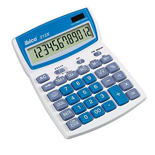 Rexel Ibico 212X - Calculadora de sobremesa con pantalla LCD de 12 dígitos
