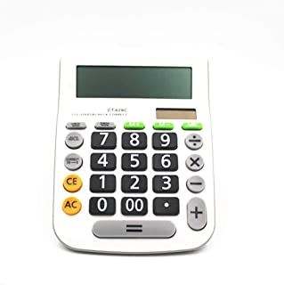 Electronics Calculator 12 Digit Desk Calculator Large Calculator Buttons Financial Business Accounting Tool White Big Butt...