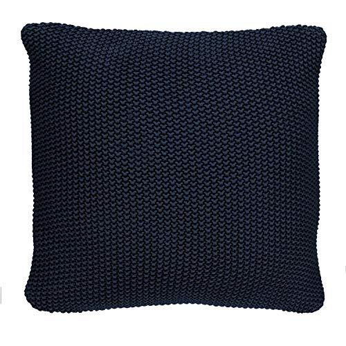 Marc O Polo gebreid sierkussen Plaid Nordic Knit Indigo Blue Decoratief kussen 30x60 cm