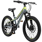 BIKESTAR Bicicleta de montaña de Aluminio Bicicleta Juvenil 20 Pulgadas de 6 a 9 años | Cambio Shimano de 7 velocidades, Freno de Disco, Horquilla de suspensión | niños Bicicleta Verde