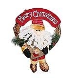 HUBAN Corona De Navidad,Decoración Colgante De Muñeco De Nieve...