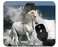 ホームオフィスの仕事のためのコンピュータデスクマットの動物の馬の礁のサーフのマウスパッド