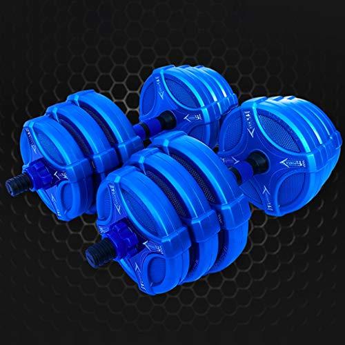 YUESFZ Hanteln Dumbbell Farbe Fitness Hanteln Heimtrainingsgeräte Männliche Und Weibliche Student Gewichtheben Langhantel Kniebeugen-Kettlebell-Set Mit Dünnem Arm (Color : Blue, Size : 20KG)