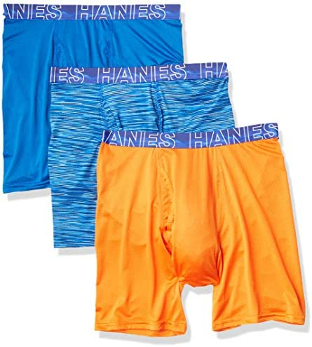 Hanes Men s X Temp 4 Way Performance Stretch Mesh Boxer Brief Assorted 3 Medium product image