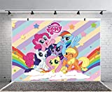 Baby Shower Backdrop for Girl My Little Pony Baby Birthday Party Background Decoration Birthday Banner Girl's Little Pony 7×5ft Banner Decoration