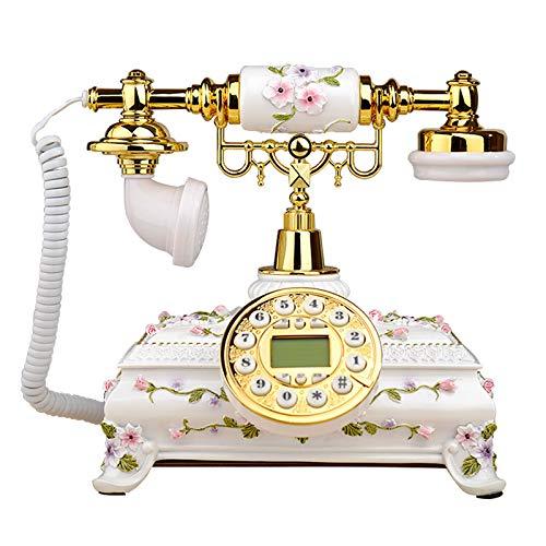 JFF Teléfono Retro, Teléfono FSK/DTMF Tipo UE Teléfono Fijo Retro De Estilo Antiguo, Teléfono Analógico Vintage Plateado Teléfono Fijo para Teléfono De Oficina En Casa