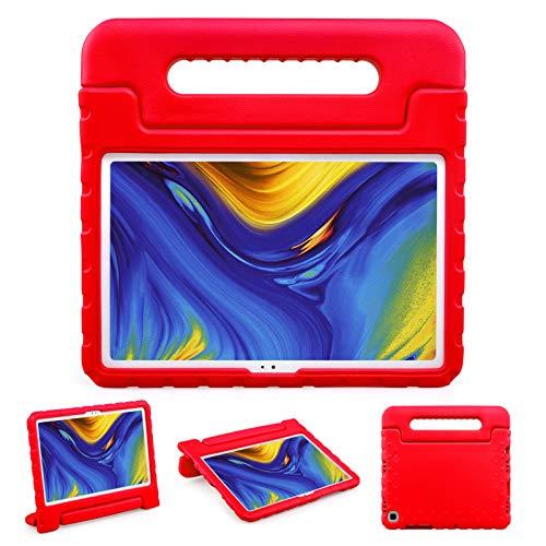 BelleStyle Funda Niños para Samsung Galaxy Tab A7 10.4 Pulgada SM-T500 SM-T505 SM-T507 2020 Tableta, A Prueba de Choques Ligero Estuche Protector Manija Caso Soporte para Galaxy Tab A7 10.4' (Rojo)