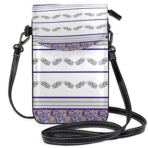 XCNGG Monedero pequeño para teléfono celular Bohemian Cell Phone Purse Wallet for Women Girl Small Crossbody Purse Bags