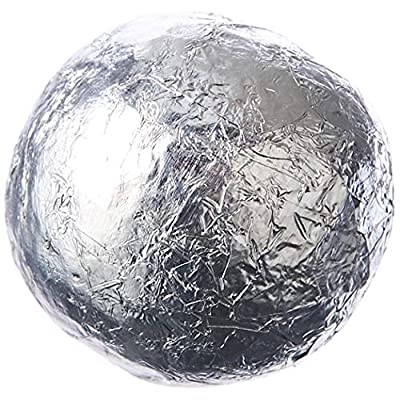 chocolate factory silver foil wrapped milk ball 100-pieces 420 g Chocolate Factory Silver Foil Wrapped Milk Ball 100-Pieces 420 g 51nh1nlHS0L