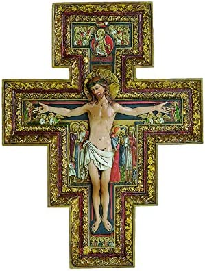 Joseph s Studio by Roman Collection 10 75 H San Damiano Cross Made from Resin High Level of product image