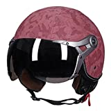 Casco de motocicleta clásico, casco abierto para hombres y mujeres, F, L (55-57cm)