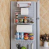 Multifunktionale Küchenzubehör Organizer Kühlschrank Rack-Side-Regal Wand-Halter...